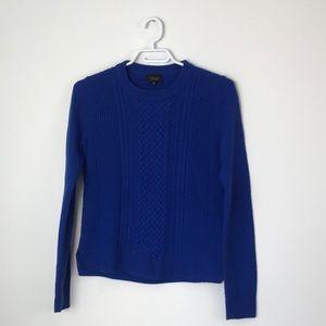 Aritzia | Babaton Blue Cable Cashmere Sweater | S